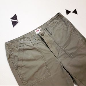 Levi's Cargo Utility Cropped Pant Olive Green 28